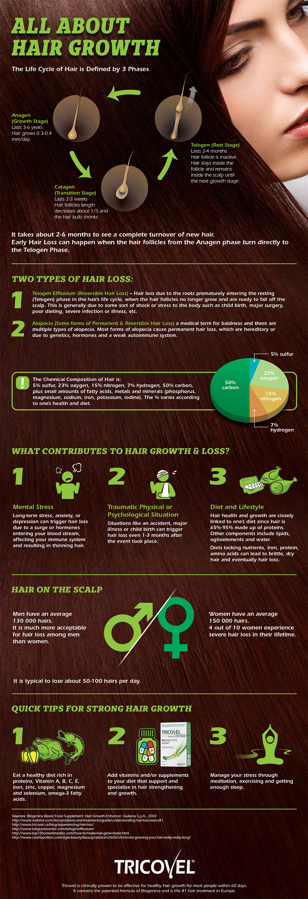 All About Hair Growth Infographic